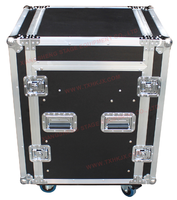 12U standard flight case with 3 cover